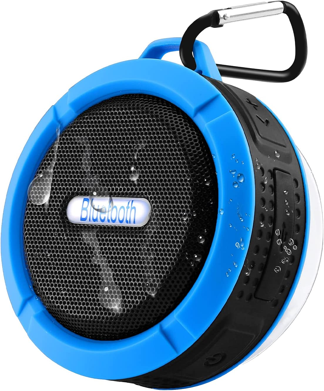 Waterproof Shower Speaker, Wireless Bluetooth Speaker, Portable Mini Hi-Fi Sound Speaker with Suction Cup, Enhanced Bass Loud HD Sound, 6H Playtime for Party, Bathroom, Travel, Home, and Outdoor