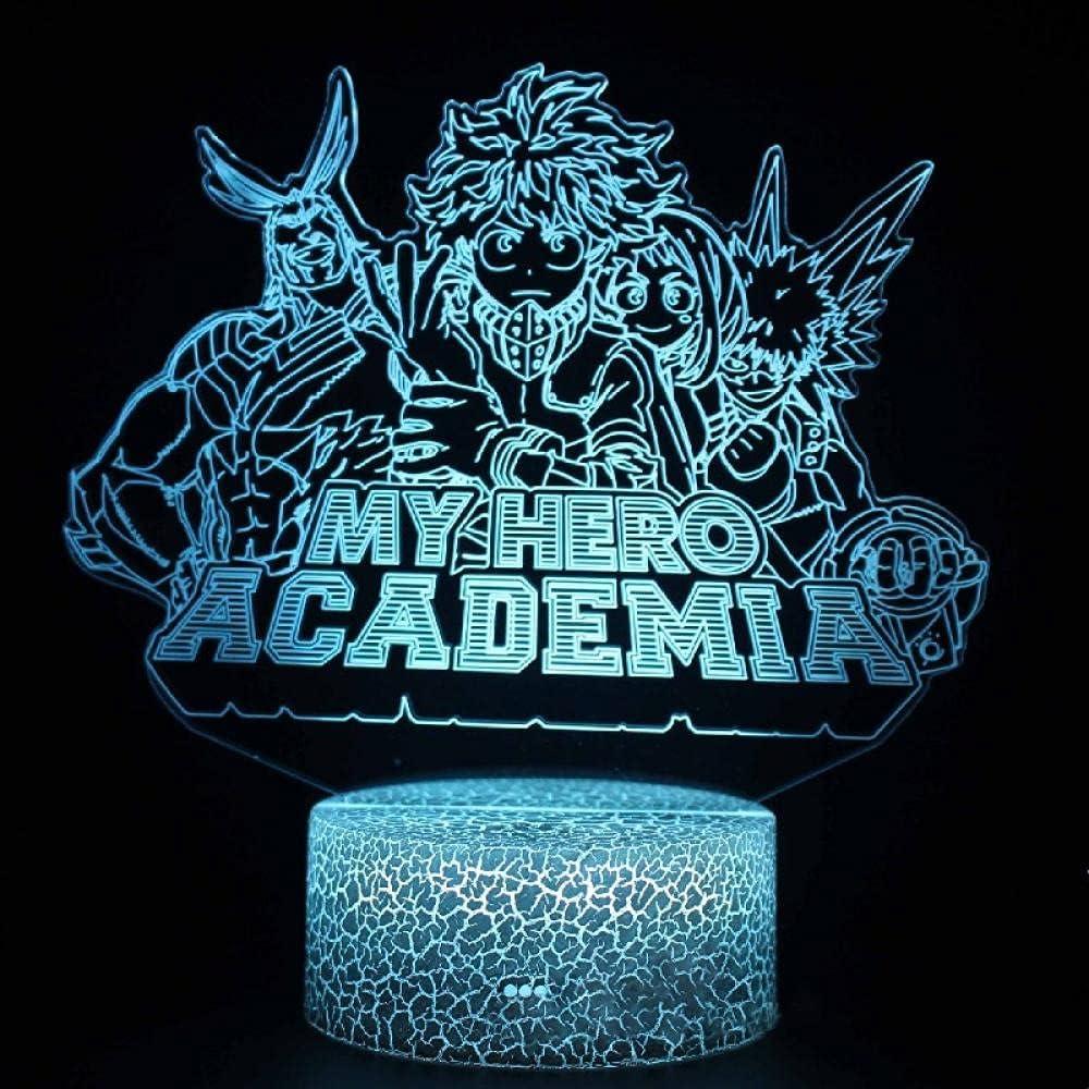 Max 70% OFF High material My Hero Academia All Might URARAKA Night Led Table Visual Lights