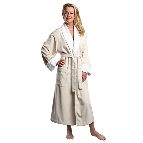 21e6ee52fe Plush Lined Microfiber Spa Robe - Unisex Luxury Hotel Bathrobe by  Monarch Cypress