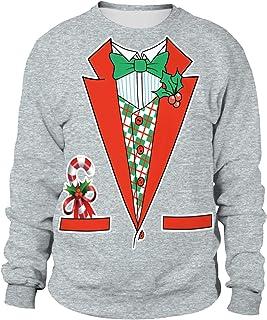 89e94c25424 Pull Noel Homme Imprimé Pulls De Noël Femme Unisexe Sweat Shirt Noel Moche  Oversize Pull Over