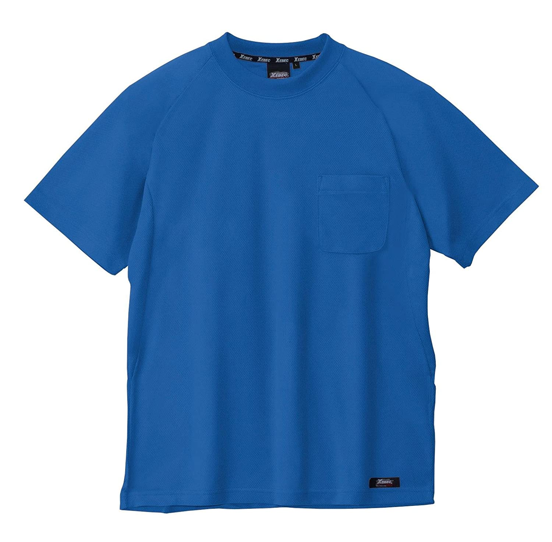 ジーベック ハイブリッド半袖Tシャツ 45/コバルトブルー 6124 M