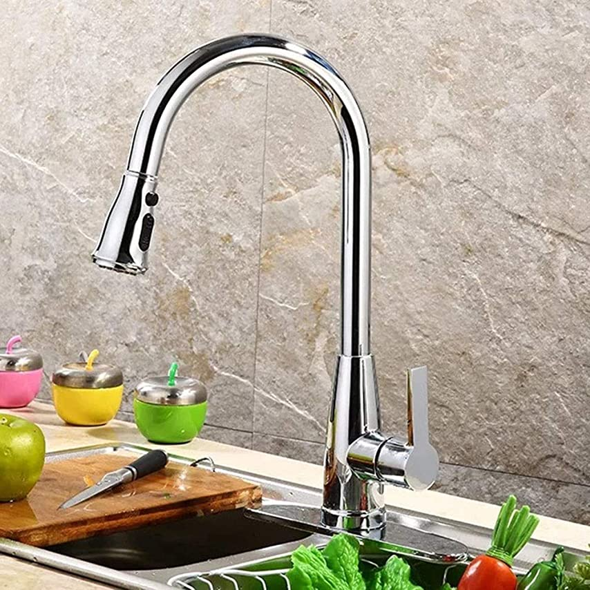 八百屋技術スクラブHYH ダイヤモンド春三セクションポンプ温水と冷水の混合キッチンシングルクローム蛇口 美しい人生