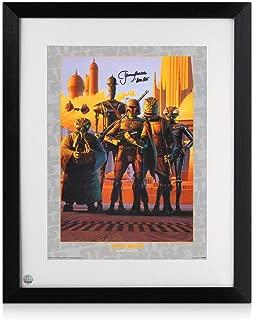 Boba Fett Signed And Framed Star Wars Bounty Hunters Poster