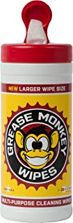 Grease Monkey Wipes Canister Heavy Duty Cleaning Wipes Canister, 25-Count