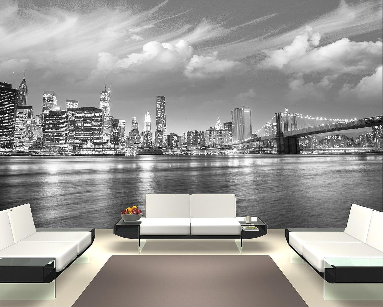 Fototapete selbstklebend New York VI - schwarz wei 360x230 cm - Wandtapete – Poster – Dekoration – Wandbild – Wandposter - Bild – Wandbilder - Wanddeko