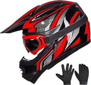 ILM Youth Kids ATV Motocross Dirt Bike Motorcycle BMX Downhill Off-Road MTB Mountain Bike Helmet DOT Approved (Youth-M, Re...