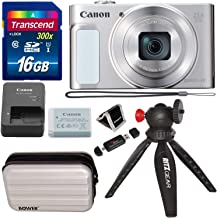 $244 Get Canon PowerShot SX620 Digital Camera w/25x Optical Zoom - Wi-Fi & NFC Enabled (Silver), Transcend 16GB SDHC Memory Card, Bower SCX5500 Camera Case (Silver) and Accessory Bundle