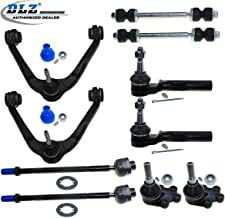 DLZ 10 Pcs Front Suspension Kit-2 Upper Control Arm 2 Lower Ball Joint 2 Sway Bar 2 Inner 2 Outer Tie Rod End Compatible with Chevrolet Silverado 1500 GMC Sierra 1500 RWD 2WD 1999-2006