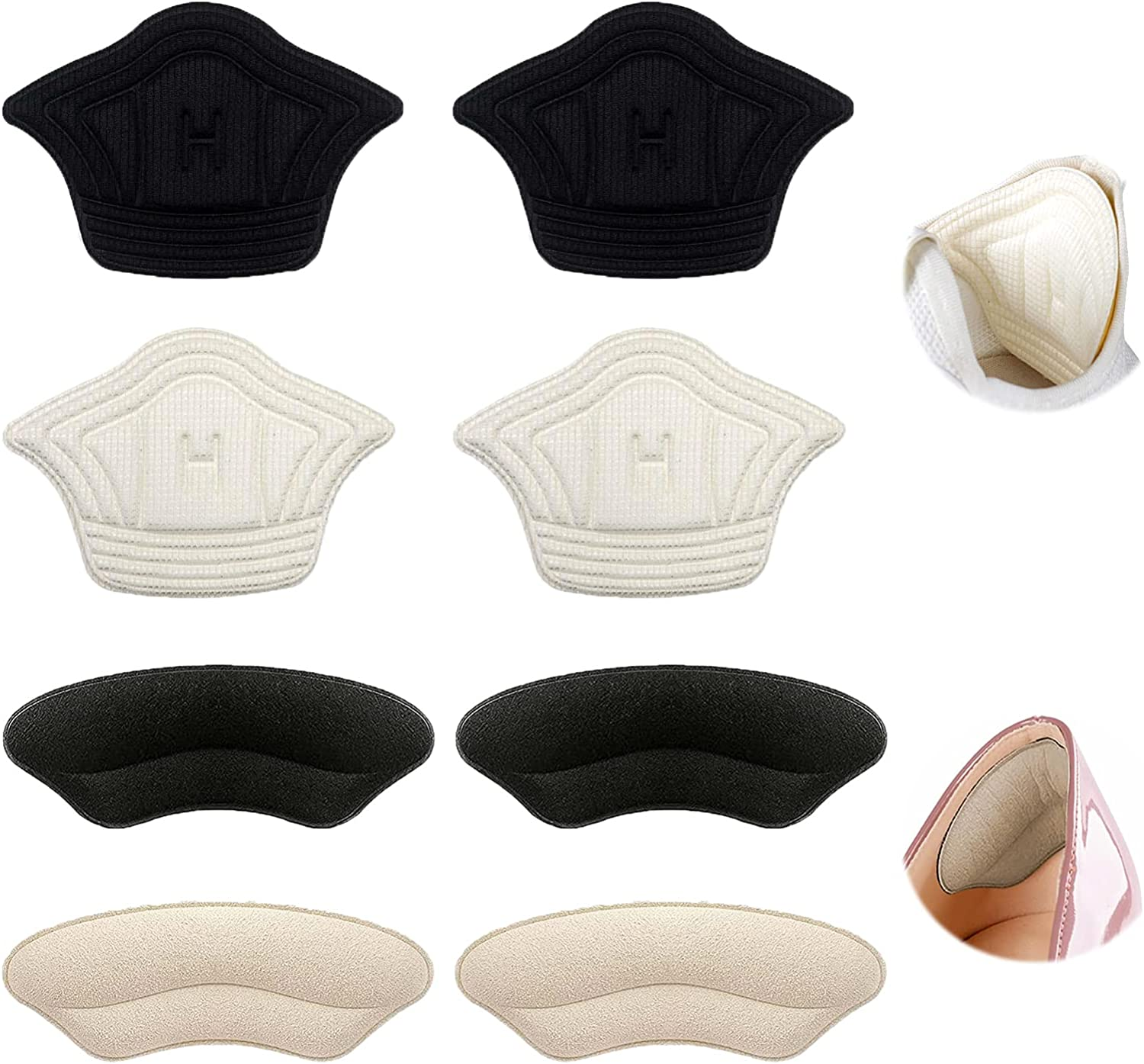 Heel Grips Liner Inserts 8 f Selling rankings PCS Soft Cushion Super beauty product restock quality top Pads