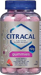 Citracal Calcium Supplement Gummies 70 ea (Pack of 3)