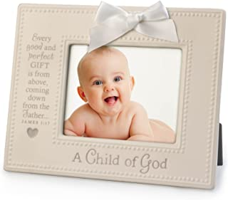 Lighthouse Christian Products A Child of God Ceramic Frame, 4 x 6, White/Gray