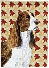 Caroline's Treasures SS4343GF Springer Spaniel Fall Leaves Portrait Flag, Small, Multicolor
