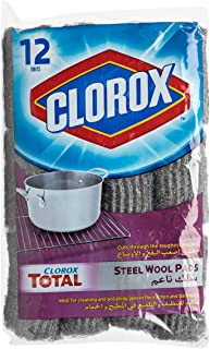 Clorox Steel Wool Soap Pads, 12 Count
