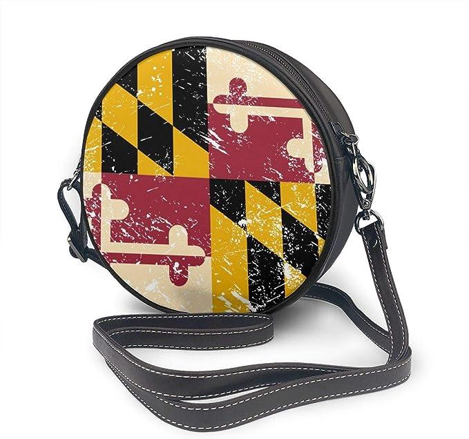 Nana Home American and Indiana State Flag Women Round Crossbody Bags,Cute Circle Coin Purse Shoulder Bag Handbag