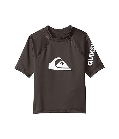 Quiksilver Kids All Time Short Sleeve Rashguard (Toddler/Little Kids) (Tarmac) Boy