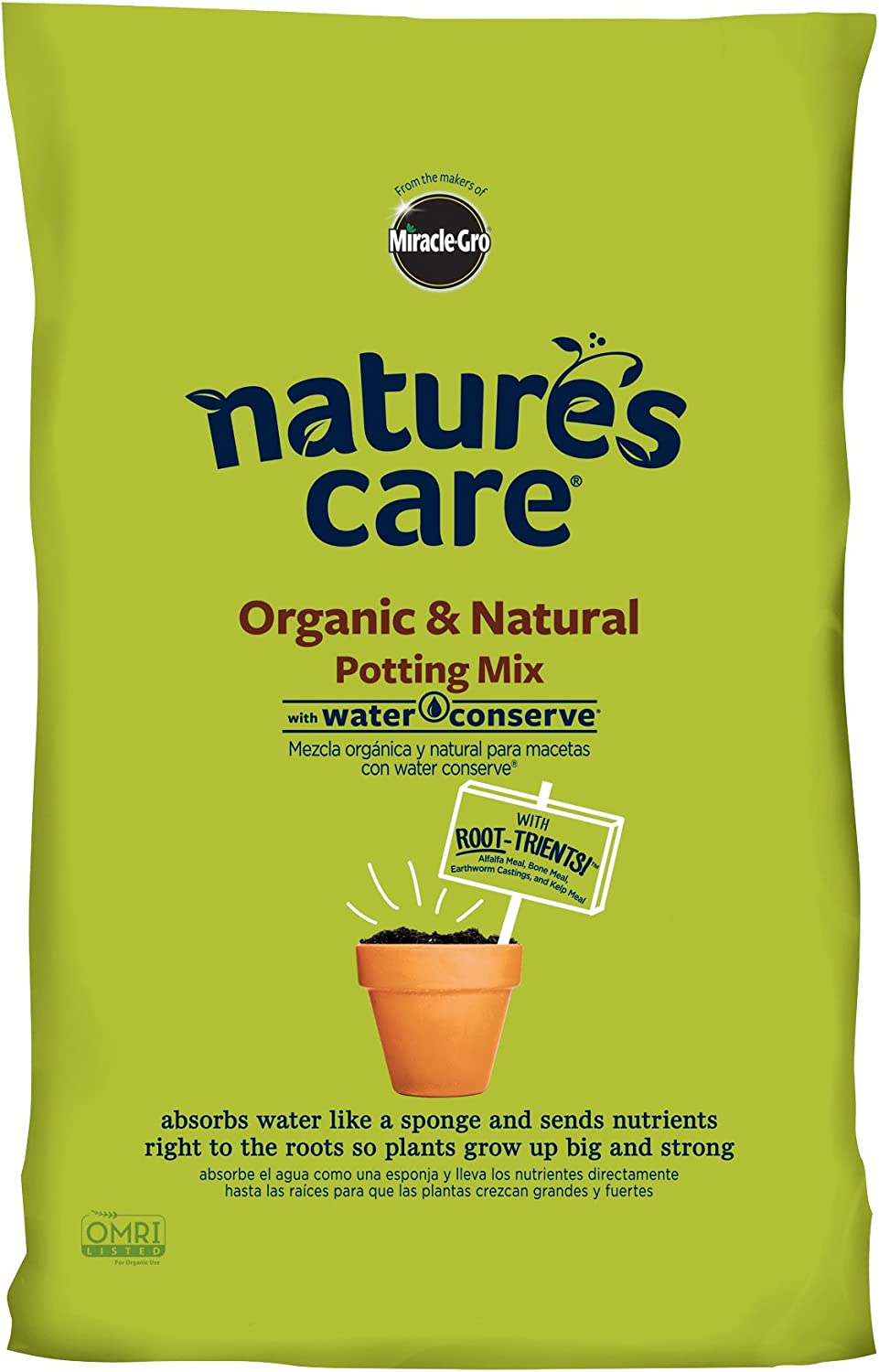 Nature's Care Organic Potting Mix Ranking El Paso Mall TOP4 Water 16-Quart Conserve with