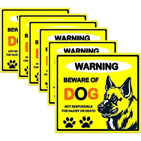 2 BEWARE OF DOG Window Door Wall Security Warning Vinyl Sticker Decal