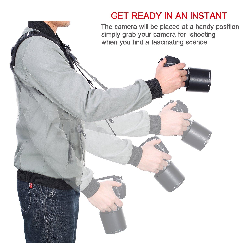 Eslinga de transporte de hombro Cuello Cámara Ajustable Correa Cinturón para Mirrorless Instant