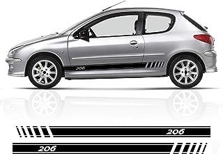 RACING DIRECT Autocollant Peugeot Sport Jaune Lot de 2 Stickers /écusson avec Logo Accessoire Automobile d/écoratif pour 206 207 208 307 308 107 5008