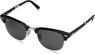 RB2176 Clubmaster Folding Sunglasses, Black/Green, 51 mm