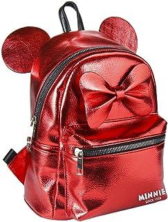 Mochila Casual Moda Minnie, Unisex Adultos, Rojo (Rojo), 11x25x22 cm (W x H x L)