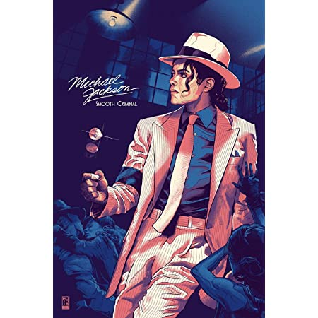 VVWV Dancing Legend Michael Jackson Smooth Criminal Posters Wall Living Room Motivational Wall Stickers W X H 12 X 18 Inches, Multicolour