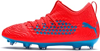Official Brand Puma Future 19.3 Firm Ground Football Boots Childs Red/Blue Soccer Cleats Shoes
