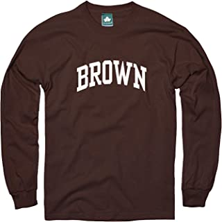Cotton Long Sleeve T-Shirt with Classic Logo School Color NCAA Colleges