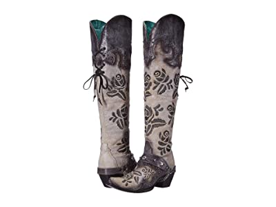 Corral Boots A3843 (White/Black) Women