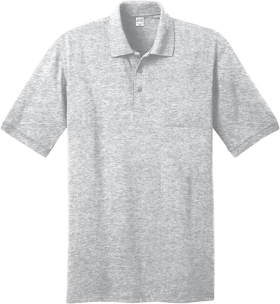 Port & Company Tall 5.5-Ounce Jersey Knit Polo Shirt, Ash, Large Tall
