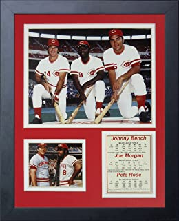 Legends Never Die Johnny Bench, Joe Morgan and Pete Rose Framed Photo Collage, 11 by 14-Inch