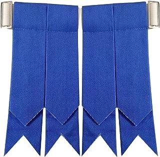 Scottish Kilt Hose Sock Flashes Various Tartan Garter Pointed Acrylic Wool Flashes