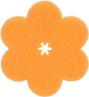 マーナ(MARNA) おはなスポンジ オレンジ キッチンスポンジ 薄型 K364O