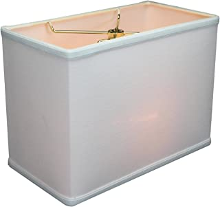 (6x12) x(6x12) x9 Rectangular Drum Lampshade White with Brass Spider Fitter by Home Concept - Perfect for Table and Desk Lamps - Medium, White