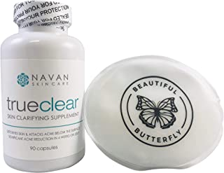Navan Skincare TrueClear - Acne Pills and Vitamin Supplements for Acne Treatment and Skin Clarifying (90 Pills) Bundle Includes Ice Pack