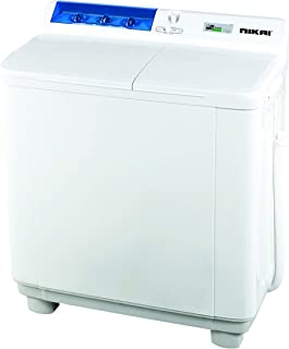 Nikai 10kg Semi-Automatic Top Load Washing Machine, White - NWM1001SPN3