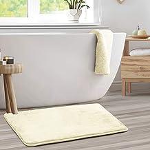 Clara Clark Bath Mat Bathroom Rug - Absorbent Memory Foam Bath Rugs - Non-Slip, Thick, Cozy Velvet Feel Microfiber Bathrug...