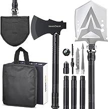 Sahara Sailor Survival Shovel with Axe, High Carbon Steel Tactical Shovel Camping Shovel Hatchet Combo - 4 Thicken Extensi...