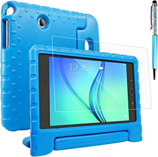 Protective Case Compatible Samsung Galaxy Tab A 8.0 -T350 with Screen Protector & Stylus, AFUNTA Shockproof Convertible Ha...