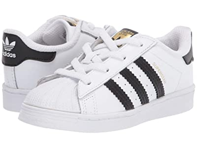 adidas Originals Kids Superstar EL (Infant/Toddler) (White/Black) Kids Shoes