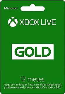 Xbox Live Gold - Membresía 12 meses - Xbox One 12 meses Edi