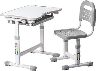 FD FUN DESK Sole Grey Bureau pour Enfant inclinable et réglable en Hauteur 700 x 500 x 510-760 mm