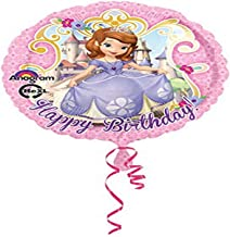 """Anagram 27530 Sofia The First Birthday Foil Balloon 18"""" Multicolored"""