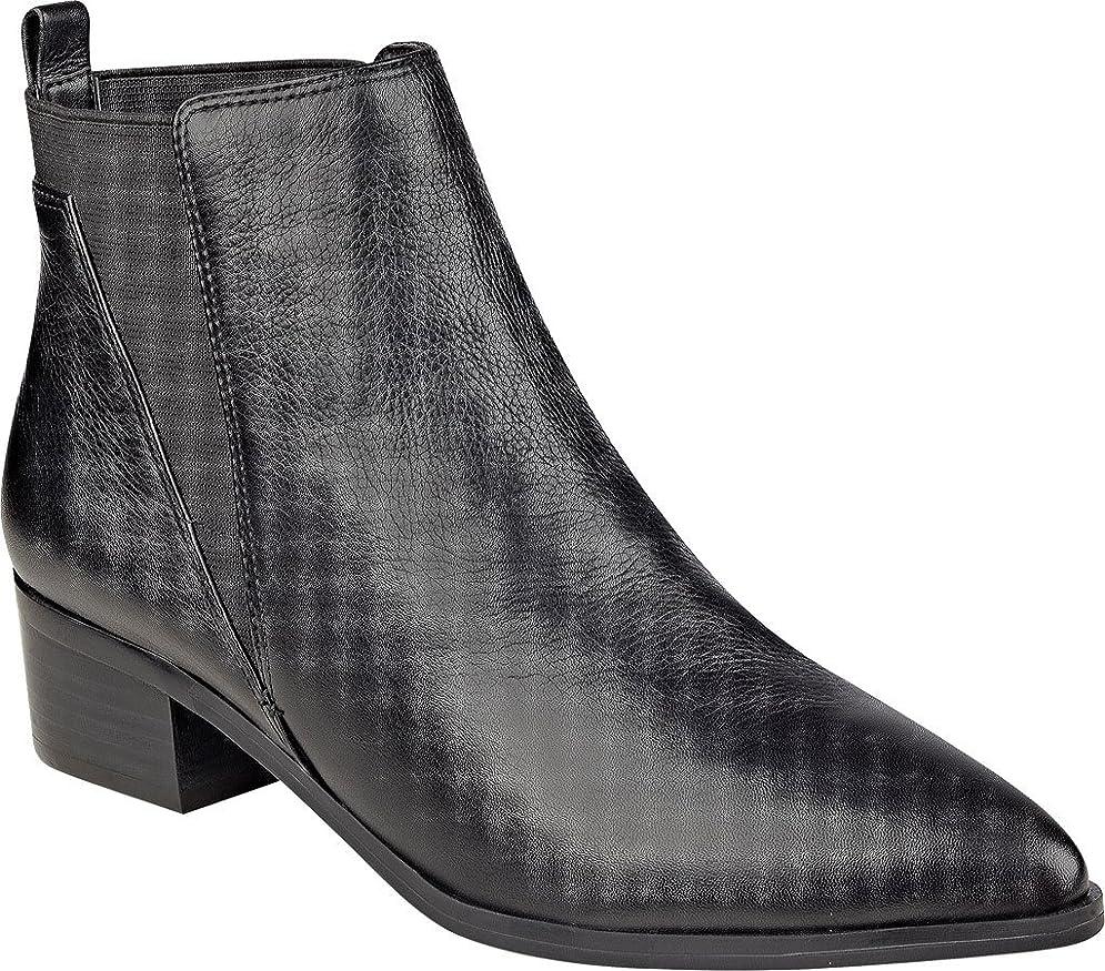 共同選択風適格Marc Fisher Womens Ignite Pointed Toe Suede Chelsea Boots, Black, Size 6
