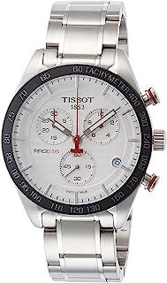 ساعة تيسوت PRS 516 كوارتز كرونوغراف T100.417.11.031.00 فضي ستانلس ستيل انالوج كوارتز للرجال