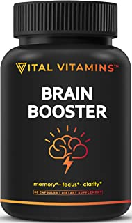 Brain Supplement Nootropics Booster – Enhance Focus, Boost Concentration, Improve..