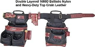 CLC Custom Leathercraft 54560 Signature Elite Adjustable Ballistic Nylon Tool Apron, 19 Pockets