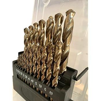 "Pack of 6Pcs Oxided Kodiak USA Made 3//8/"" Diameter Drill High Speed Steel Jobber Length"