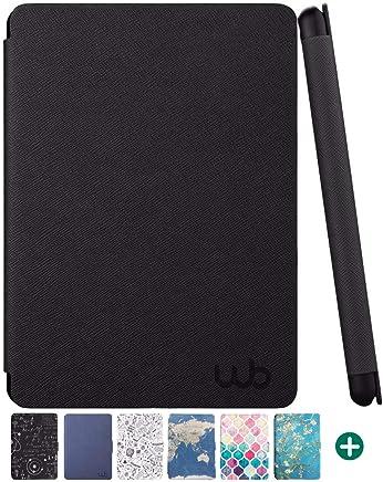 Capa Novo Kindle Paperwhite à Prova d'água WB, Ultra Leve, Auto Hibernação, Fecho Magnético Preta, WB, Capa Protetora para Tablet, Preta