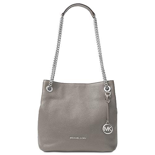 Michael Kors Womens Jet Set Chain Pebbled Leather Shoulder Handbag 139934a270